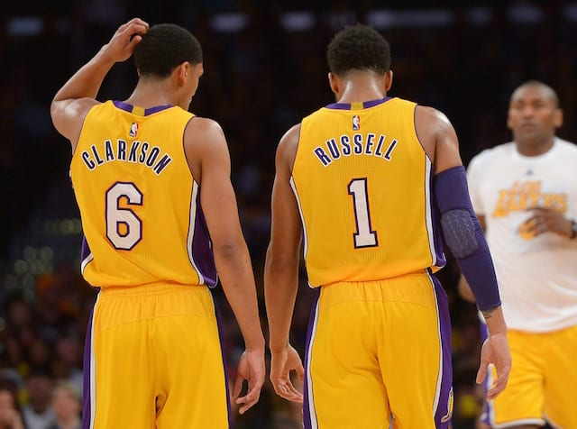 Lakers News: Gm Rob Pelinka Praises Guards D'angelo Russell, Jordan Clarkson