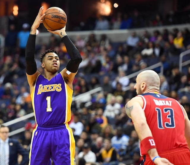 Lakers Finding Out D'angelo Russell May Be A Shooting Guard After All