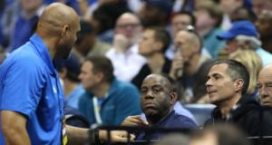 Magic Johnson, Rob Pelinka, Lakers