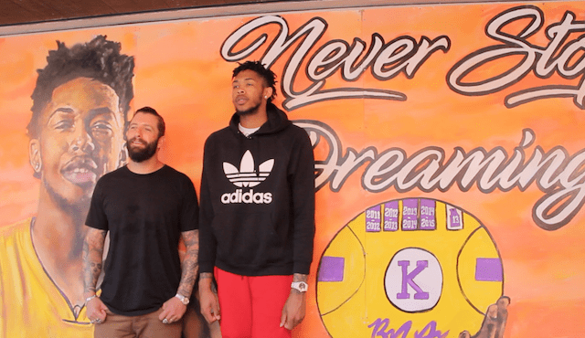 Brandon Ingram Encourages La Youth: 'never Stop Dreaming!'