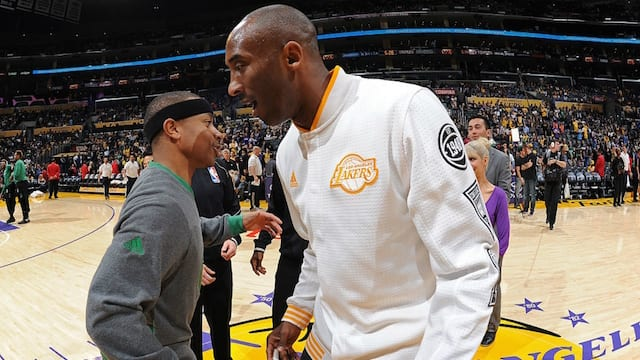 b25ff524cd1 Lakers News  Isaiah Thomas Says He And DeMar DeRozan Want To Keep Kobe  Bryant s Shoe Legacy  Going Strong