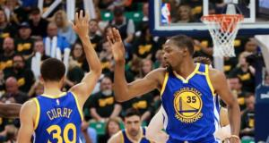 Kevin Durant, Stephen Curry, Warriors, Jazz