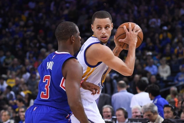 Stephen Curry, Chris Paul, Warriors, Clippers