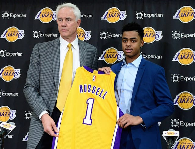 D'Angelo Russell Mitch Kupchak Lakers