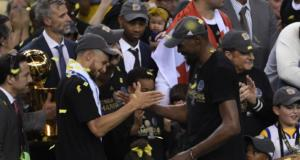 Kevin Durant Stephen Curry Warriors NBA Finals