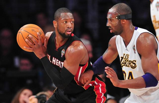 Dwyane Wade, Kobe Bryant, Lakers, Heat