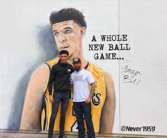 Lakers News: Artist Jonas Never Paints Mural Of Lonzo Ball Outside Spectrum Sportsnet Studio