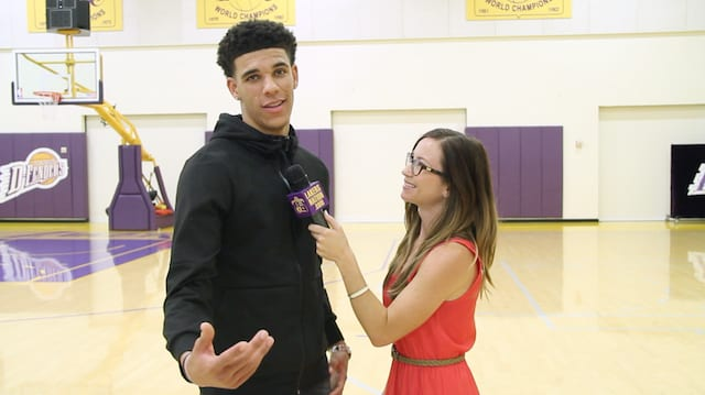 Lonzo Ball Interviews With Lakers Nation (video)
