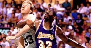 Magic Johnson Larry Bird Lakers Celtics
