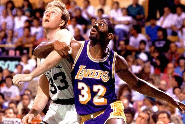 Magic Johnson, Larry Bird, Lakers, Celtics
