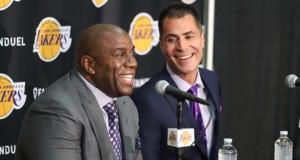Magic Johnson Rob Pelinka Lakers