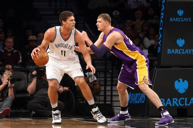 Brook Lopez, Timofey Mozgov, Nets, Lakers