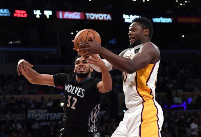 Julius Randle Karl-Anthony Towns Lakers Timberwolves