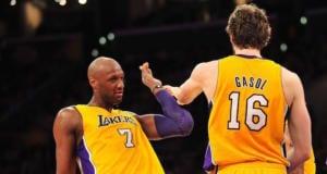 Lamar Odom, Pau Gasol Lakers