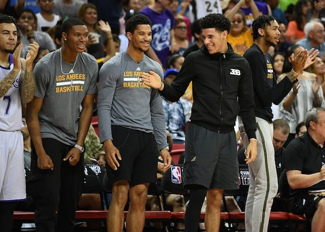 Lakers Video Lonzo Ball Josh Hart Answer Nba Trivia Questions During Rookie Photo Shoot Lakers Nation