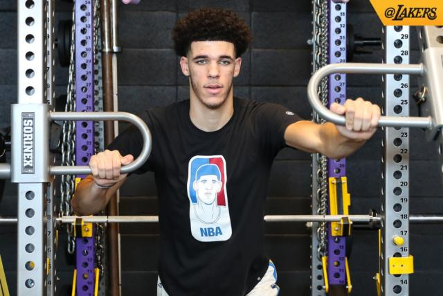 Lakers News: Lonzo Ball Sports Designed Nba Logo T-shirt Featuring His Face