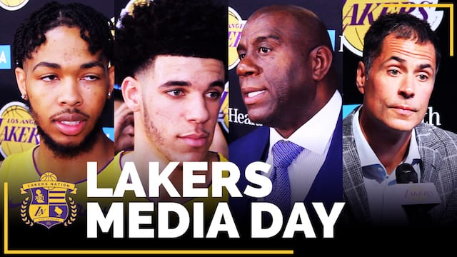 Los Angeles Lakers Media Day 2017 (videos)