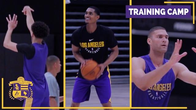 Lakers Training Camp Videos (day 1): Lonzo Ball, Brandon Ingram, Luke Walton