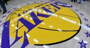 Lakers court, logo