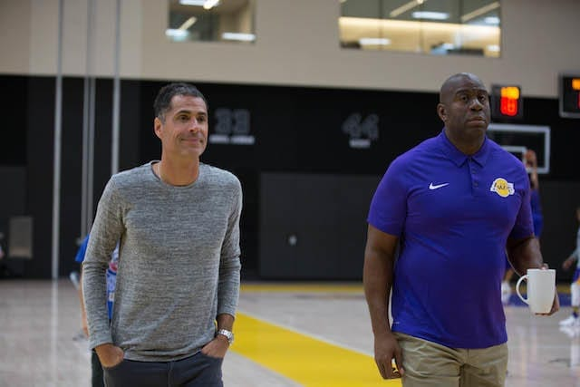 Lakers Training Camp - Rob Pelinka Magic Johnson