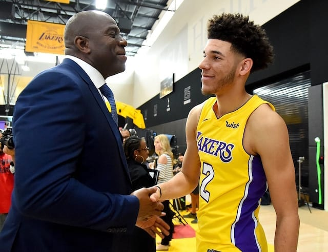 22ec9d74e55a Flipboard  Magic Johnson Says Lonzo Ball Has Looked  Outstanding  In ...