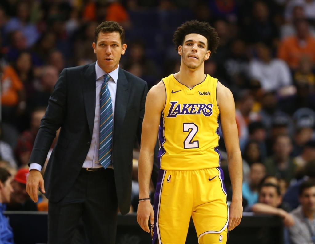 Lonzo Ball Luke Walton Lakers