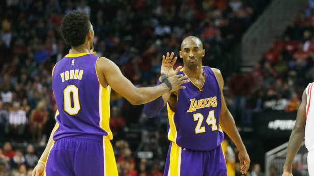 Kobe Bryant Nick Young Lakers