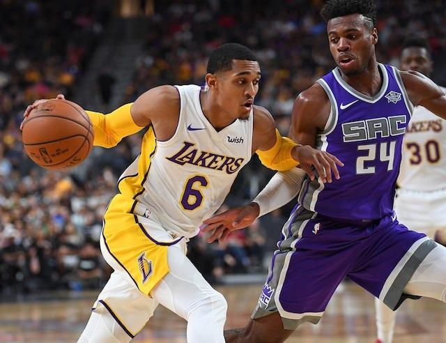 Jordan Clarkson, Buddy Hield Lakers Kings