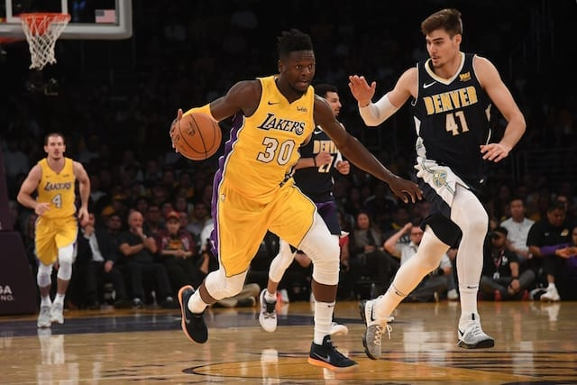 a3159a8d918 Lakers Vs. Nuggets  Los Angeles Travels To Ontario For Second Preseason  Clash Against Denver