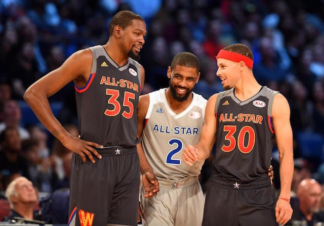 Kevin Durant, Kyrie Irving, Stephen Curry, NBA All-Star