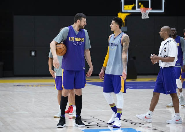 Lakers Practice Notes & Video: Andrew Bogut Impresses, Randle Lineup Questions