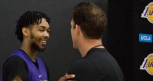 Lakers Practice - Brandon Ingram, Luke Walton-4988