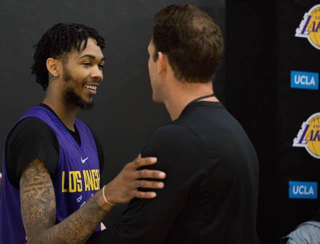 Lakers Practice - Brandon Ingram, Luke Walton-4988