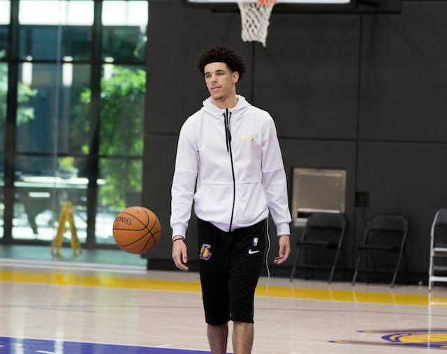 Lakers Practice - Lonzo Ball-5268