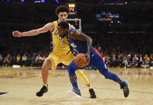Lonzo Ball, Patrick Beverley Lakers Clippers