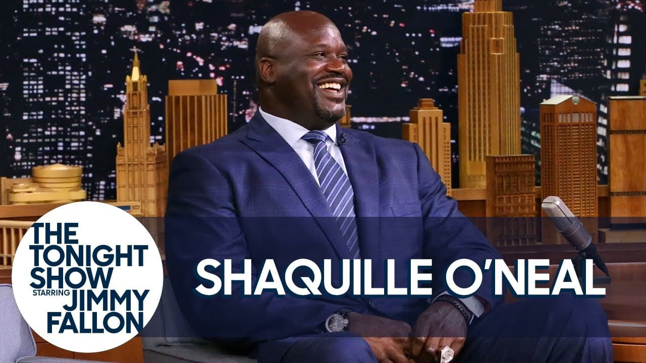 Shaquille O'neal Tells Jimmy Fallon His Lakers All-time Starting Five On The Tonight Show