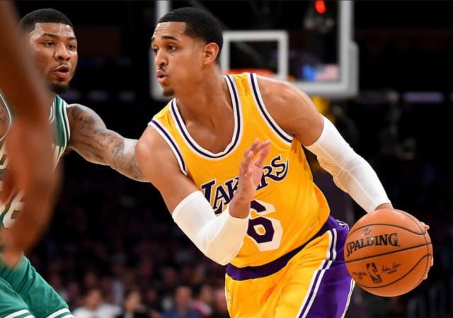 Jordan Clarkson Lakers Celtics
