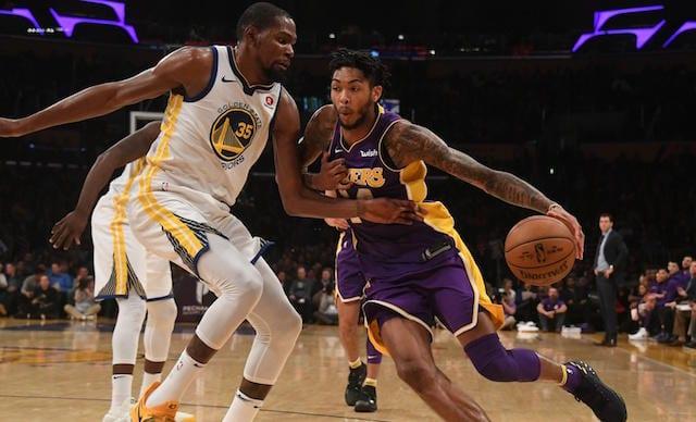 Brandon Ingram Kevin Durant Lakers Warriors