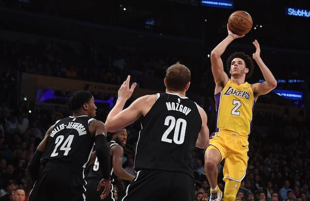 Lakers News: Luke Walton Pleased With Lonzo Ball's Performance Against Nets Despite Poor Shooting