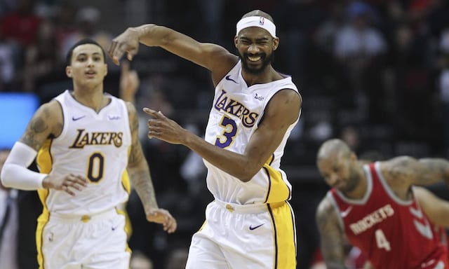 Corey Brewer, Kyle Kuzma, Lakers