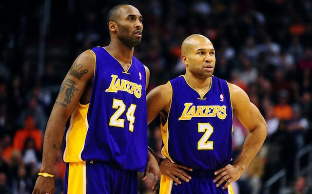 Lakers News  Derek Fisher Discusses Why Kobe Bryant Came Off As Arrogant As  A Rookie 6d47db794