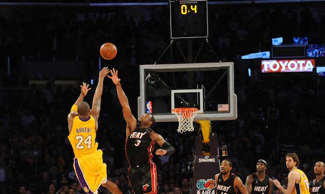 Kobe Bryant, Dwyane Wade Lakers Heat