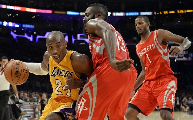 Kobe Bryant, James Harden, Lakers, Rockets