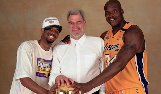 Kobe Bryant, Phil Jackson, Shaquille O'Neal, Lakers