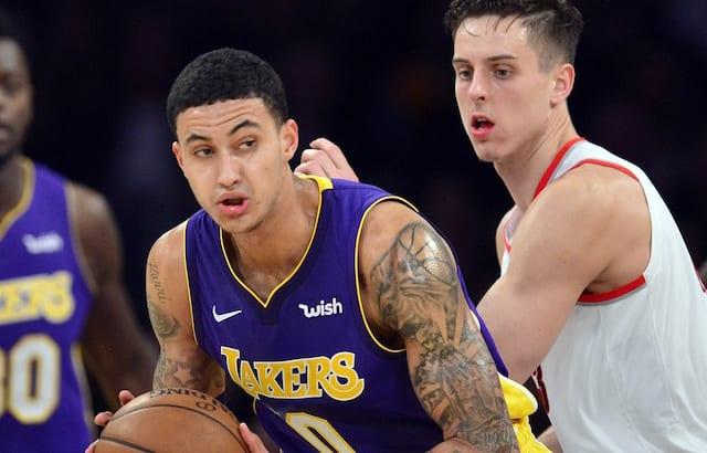 best cheap c3cfc 8ef2c Lakers News  Kyle Kuzma Says Kobe Bryant Nike  City Edition  Jerseys Are  His Favorite