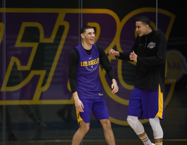 LAKERS PRACTICE 1201 - kyle kuzma lonzo ball-10