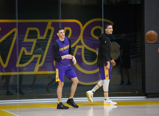 LAKERS PRACTICE 1201 - kyle kuzma lonzo ball-19