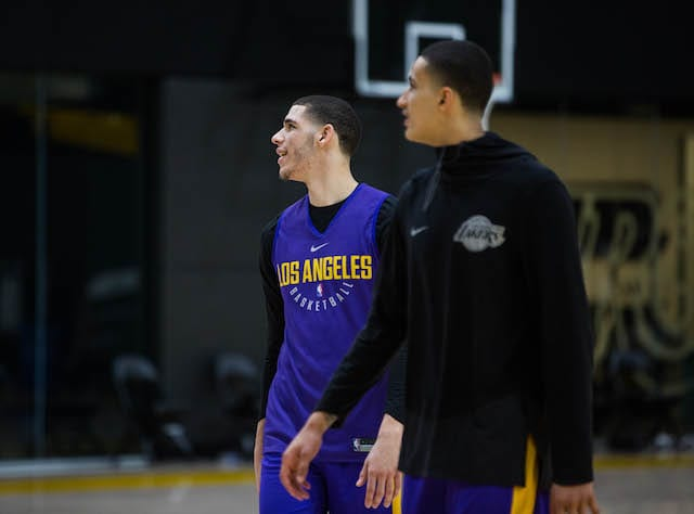 LAKERS PRACTICE 1201 - lonzo ball kyle kuzma-6
