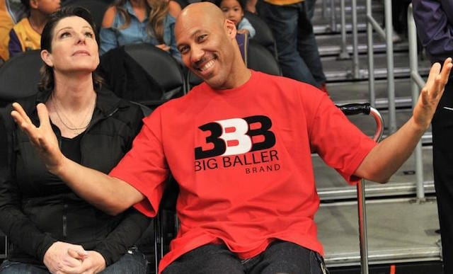 LaVar Ball, Tina Ball Lakers