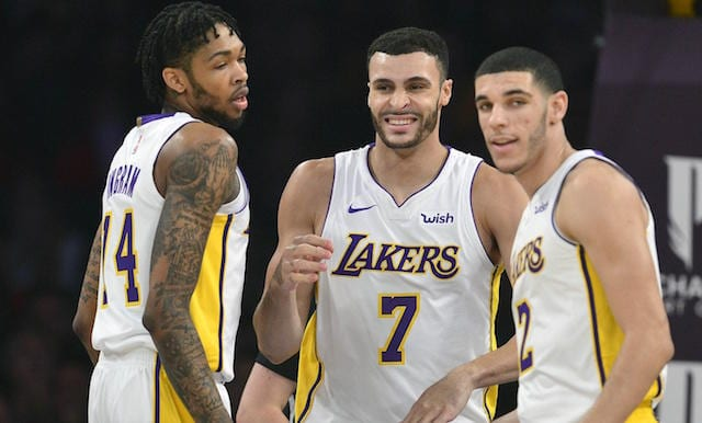 Lonzo Ball, Brandon Ingram, Larry Nance Jr., Lakers